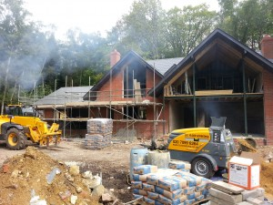 Screeding a New Build House