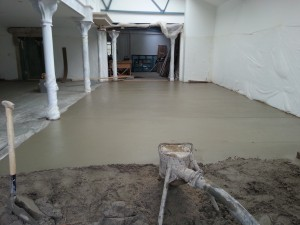Screeding in Progress